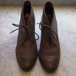 Bos & Co leather lace up booties
